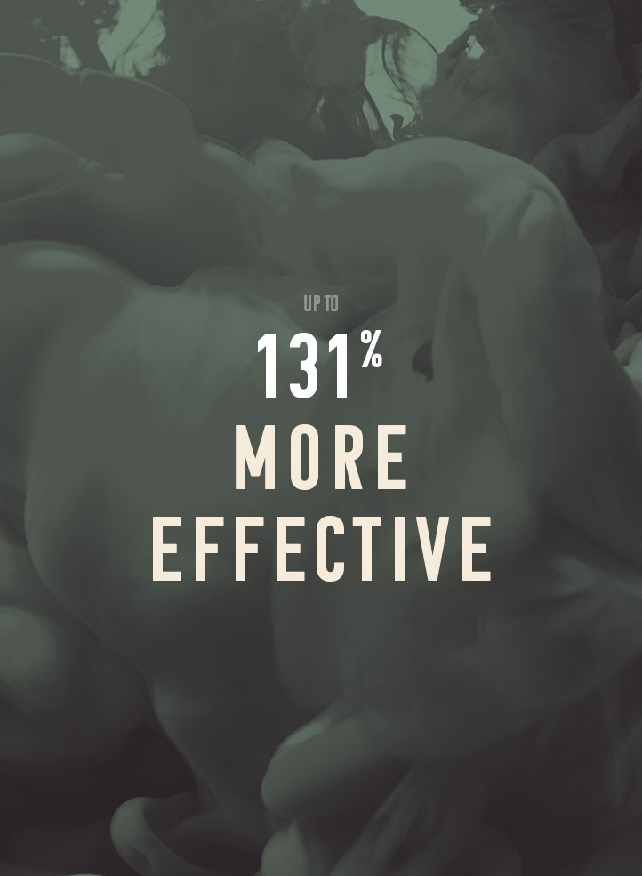 Up to 131% more effective.