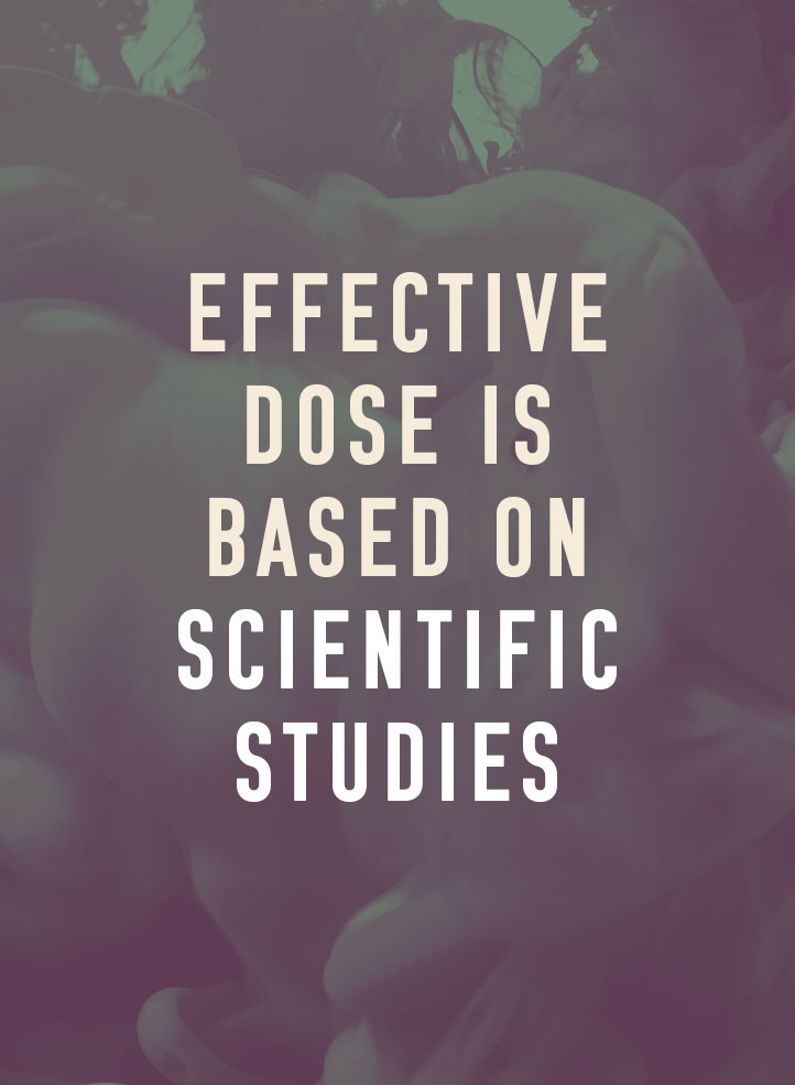 The effective dose is based on scientific studies.
