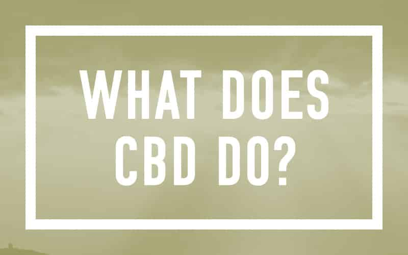 What does CBD do?