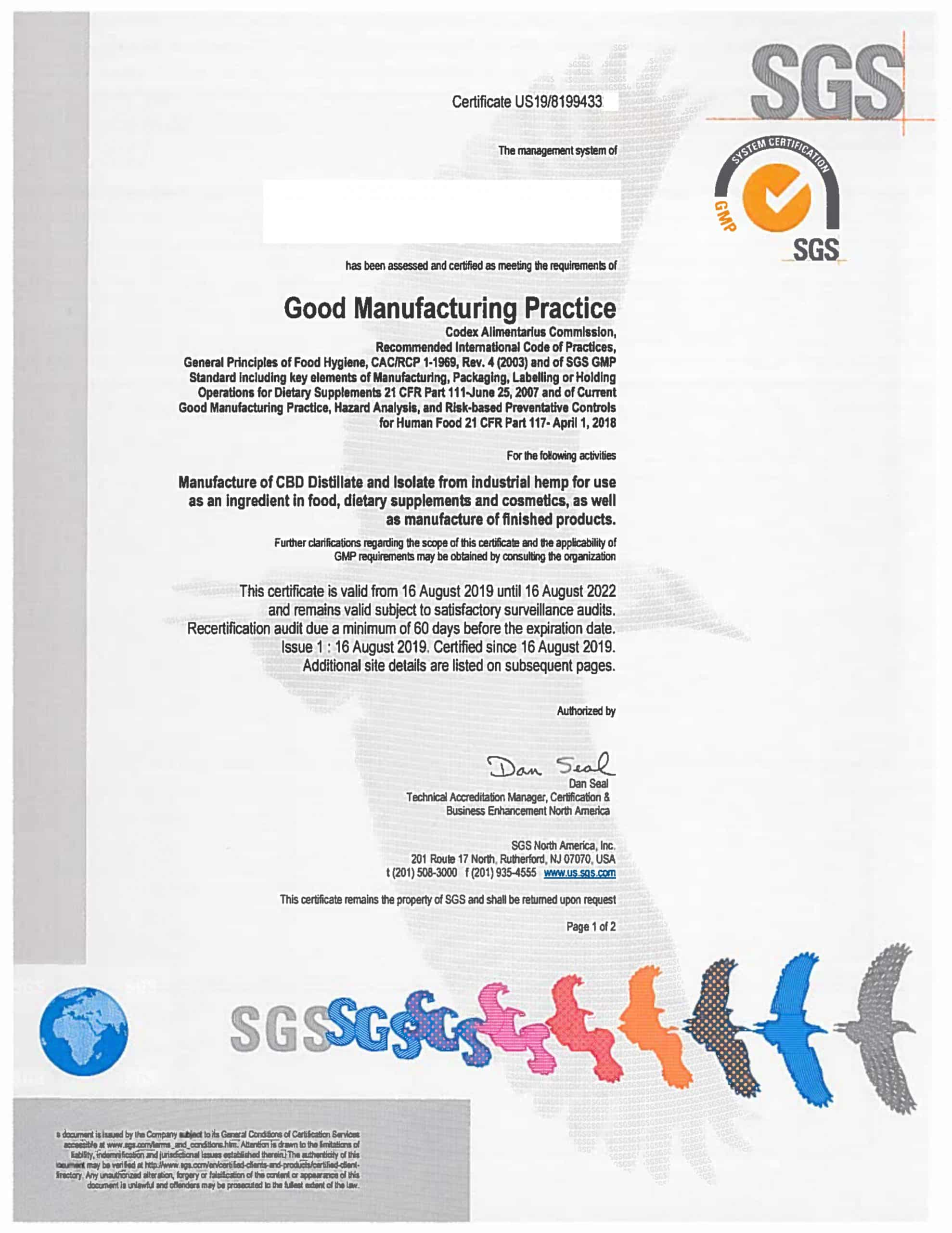 GMP CERTIFICATE of supplier 1 scaled