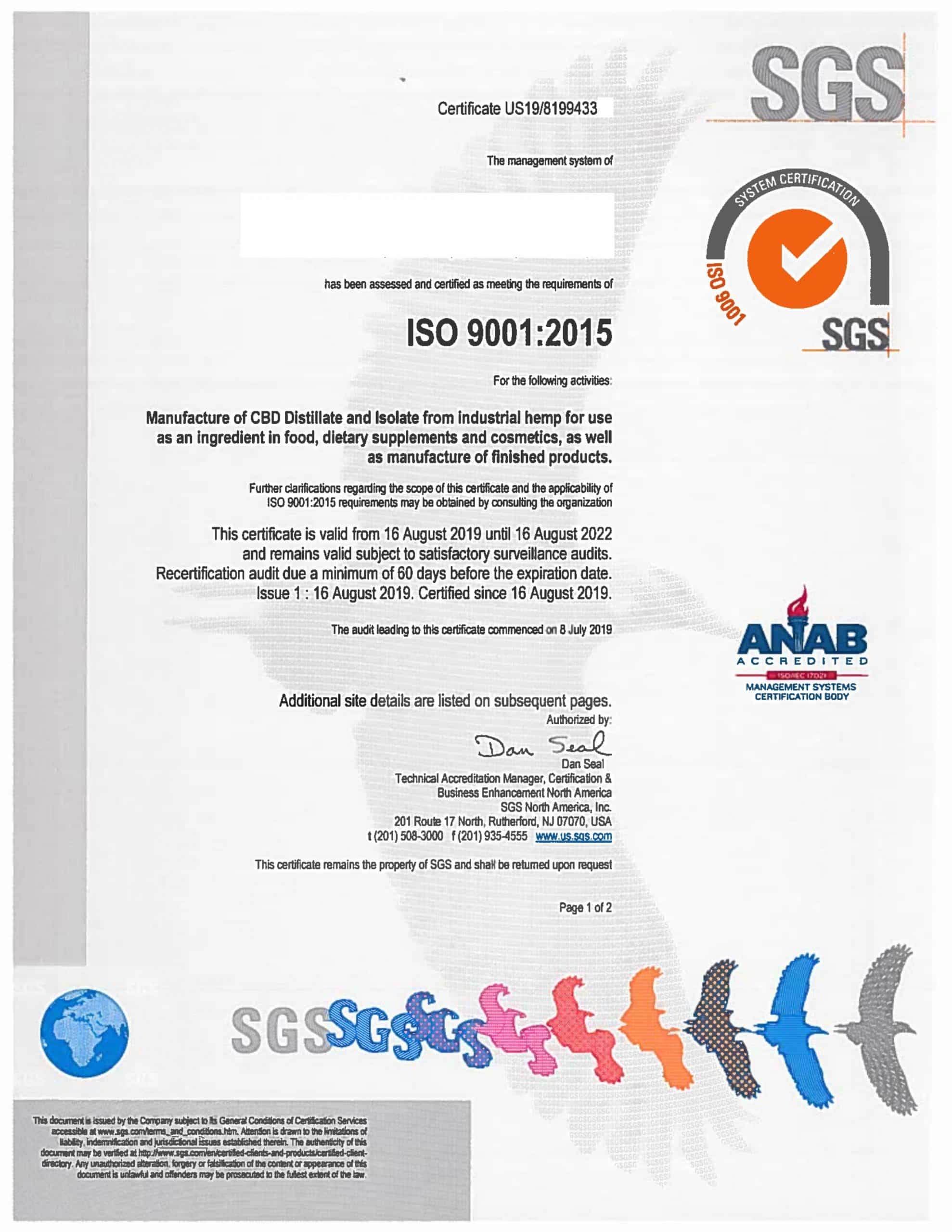 ISO 9001 QMS Certificate of supplier 1 scaled